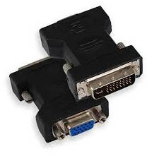 Adapter DVI 24+5 m - VGA f 15 pin