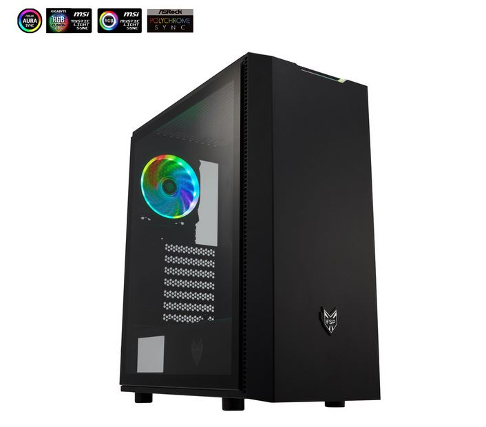 Fortron CMT 350 TG, RGB, crno sa staklom,bez napaj