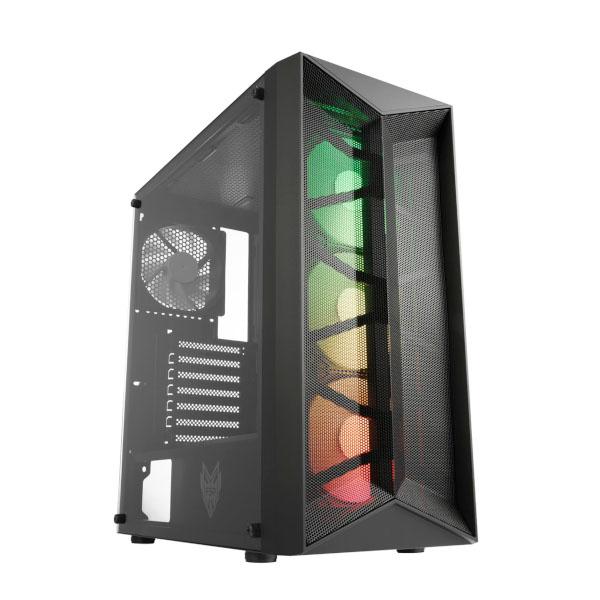 Fortron CMT 211A TG, RGB, crno, bez nap.,4x vent