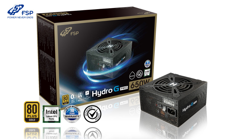 Fortron napajanje Hydro G PRO 650W,80+ GOLD mod.