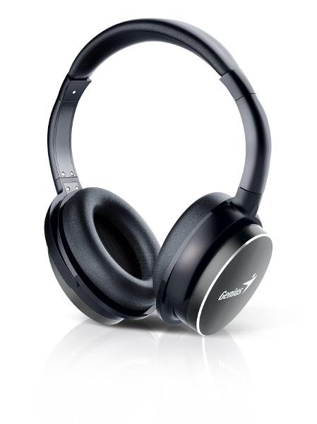 Genius HS-940BT, bluetooth headset, NFC, crne