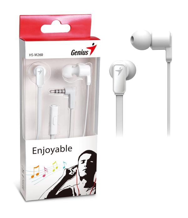 Genius HS-M260W,in-ear headset,bijele