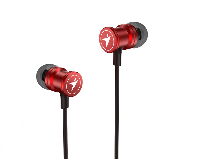 Genius HS-M316, in-ear slušalice, metalik crvene