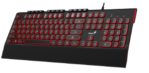 Genius SlimStar 280, tipkovnica, USB, crna/crvena
