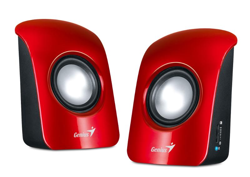Genius zvučnici SP-U115, 1.5W, USB, crveni