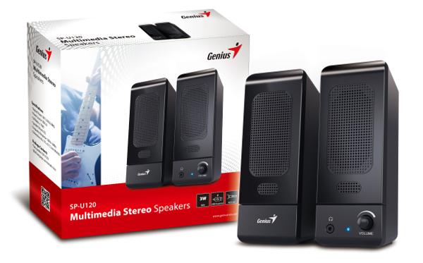 Genius zvučnici SP-U120BLK, 1.5W, USB, crni