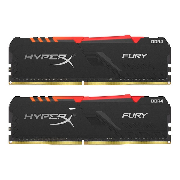 Kingston DDR4 HX Fury RGB, 16GB(2x8GB),2666MHz