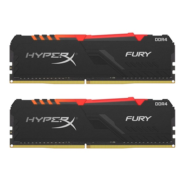 Kingston DDR4 HX Fury RGB, 16GB (2x 8GB), 3200MHz