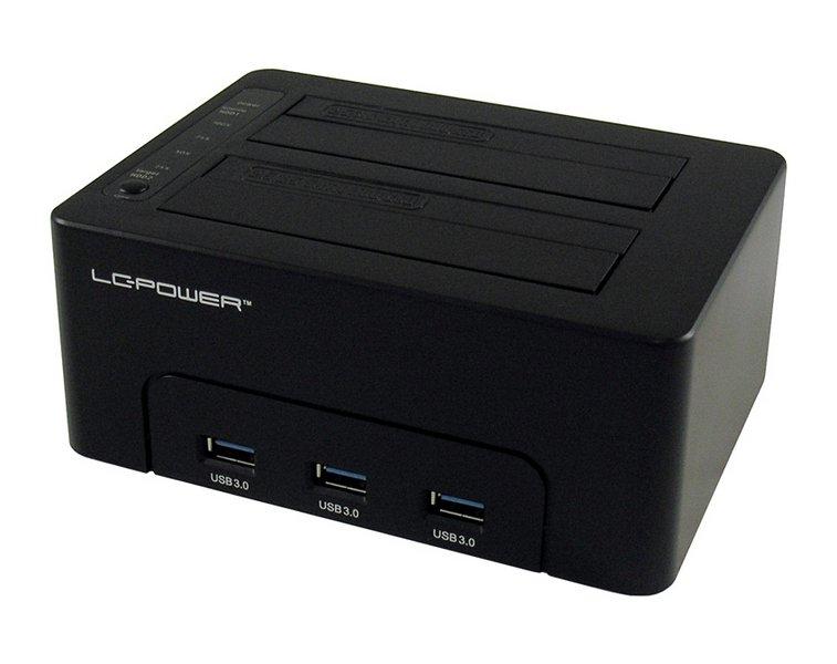 LC-Power dock za SSD/HDD, 3xUSB Hub, USB 3.0