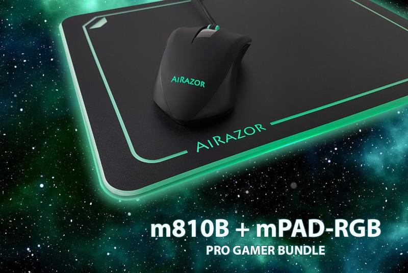 LC-Power M810 RGB miš + MPAD-RGB podloga za miša
