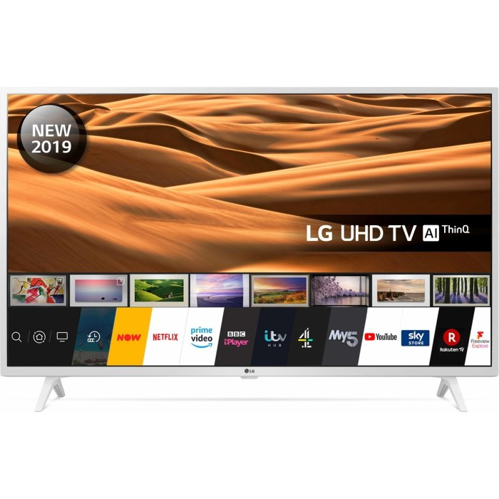 LG 49UM7390PLC, 123cm, smart, WiFi, BT, UHD, bijel