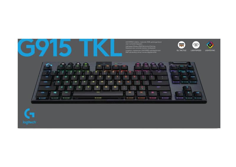 Logitech G915 TKL, bežična tipkovnica, linear