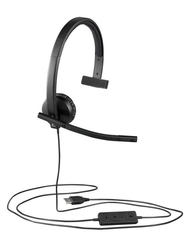 Logitech H570e Mono, USB, slušalice s mikrofonom
