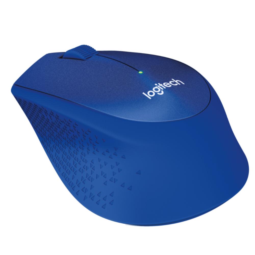 Logitech M330 Silent Plus, optički miš, plavi