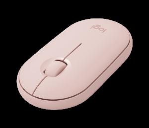 Logitech Pebble M350, bežični miš, rozi