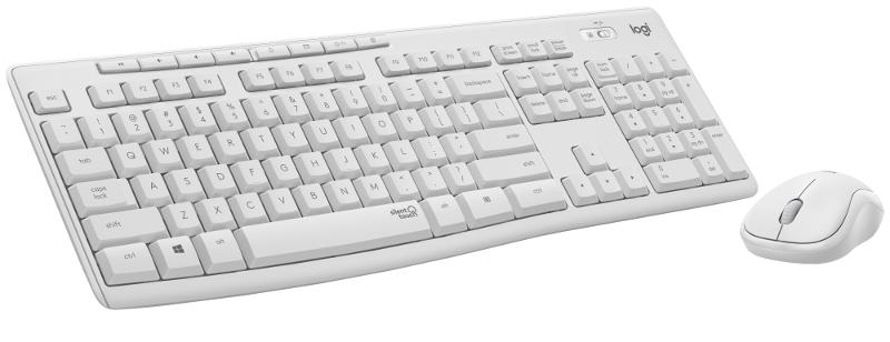 Logitech MK295 bežična tipkovnica i miš, bijela