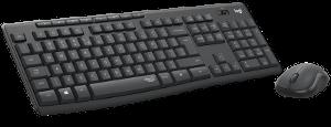 Logitech MK295 bežična tipkovnica i miš, tamnosiva