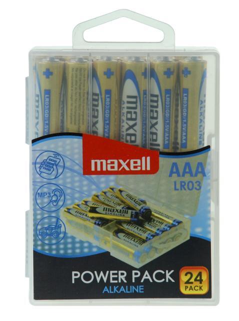 Maxell alkalne baterije LR-3/AAA, 24 komada, box