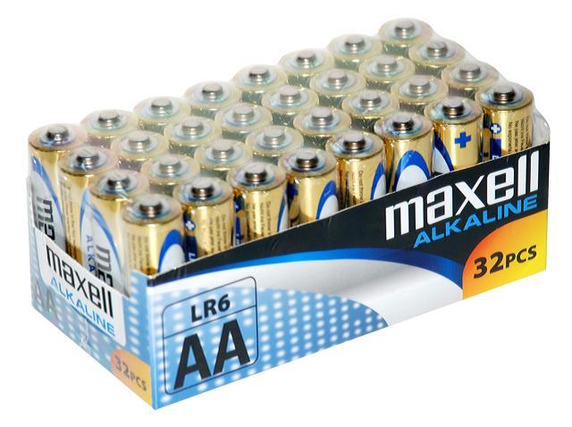 Maxell alkalne baterija LR-6/AA, 32 komada