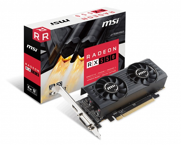 MSI RX 550 4GT LP OC, 4GB GDDR5, DX12, LowProfile