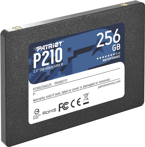 Patriot SSD P210 R530/W400, 256GB, 7mm, 2.5""