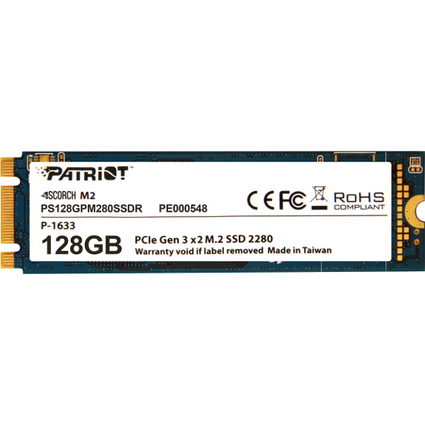 Patriot SSD Scorch R1700/W415, 128GB, M.2 NVMe