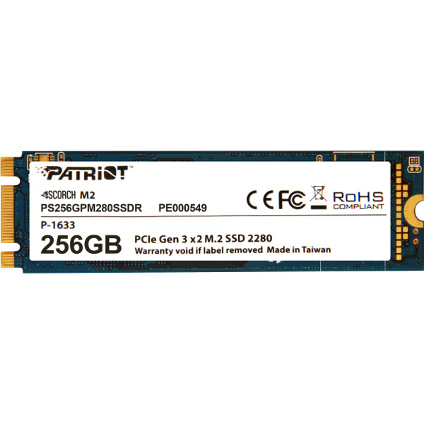 Patriot SSD Scorch R1700/W780, 256GB, M.2 NVMe