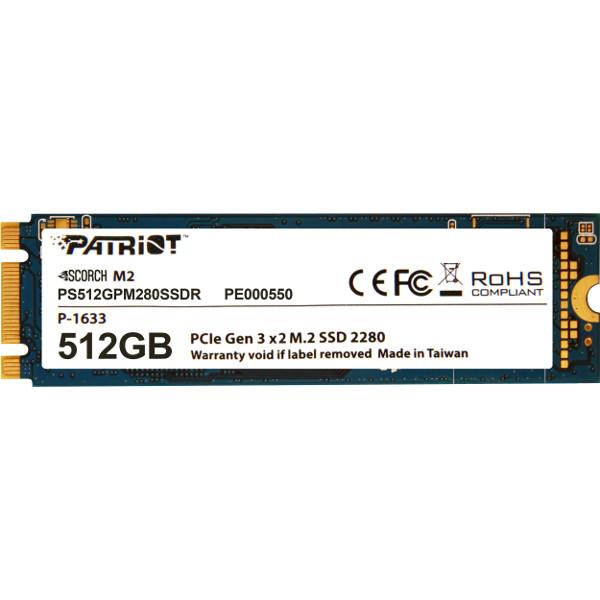 Patriot SSD Scorch R1700/W950, 512GB, M.2 NVMe