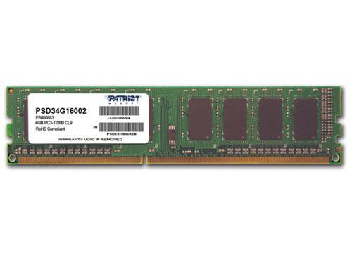 Patriot Sig. DIMM, DDR3 1600Mhz, 4GB