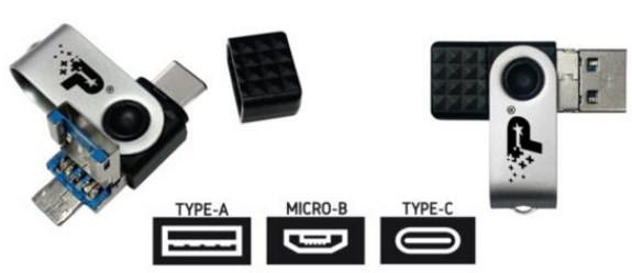 Patriot Trinity 3in1,  USB3.1, R200/W100, 128GB