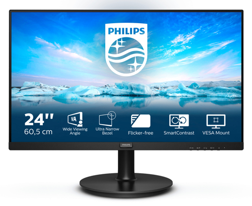 "Philips 23,8"" VA 241V8L,  HDMI, VGA, 75Hz"