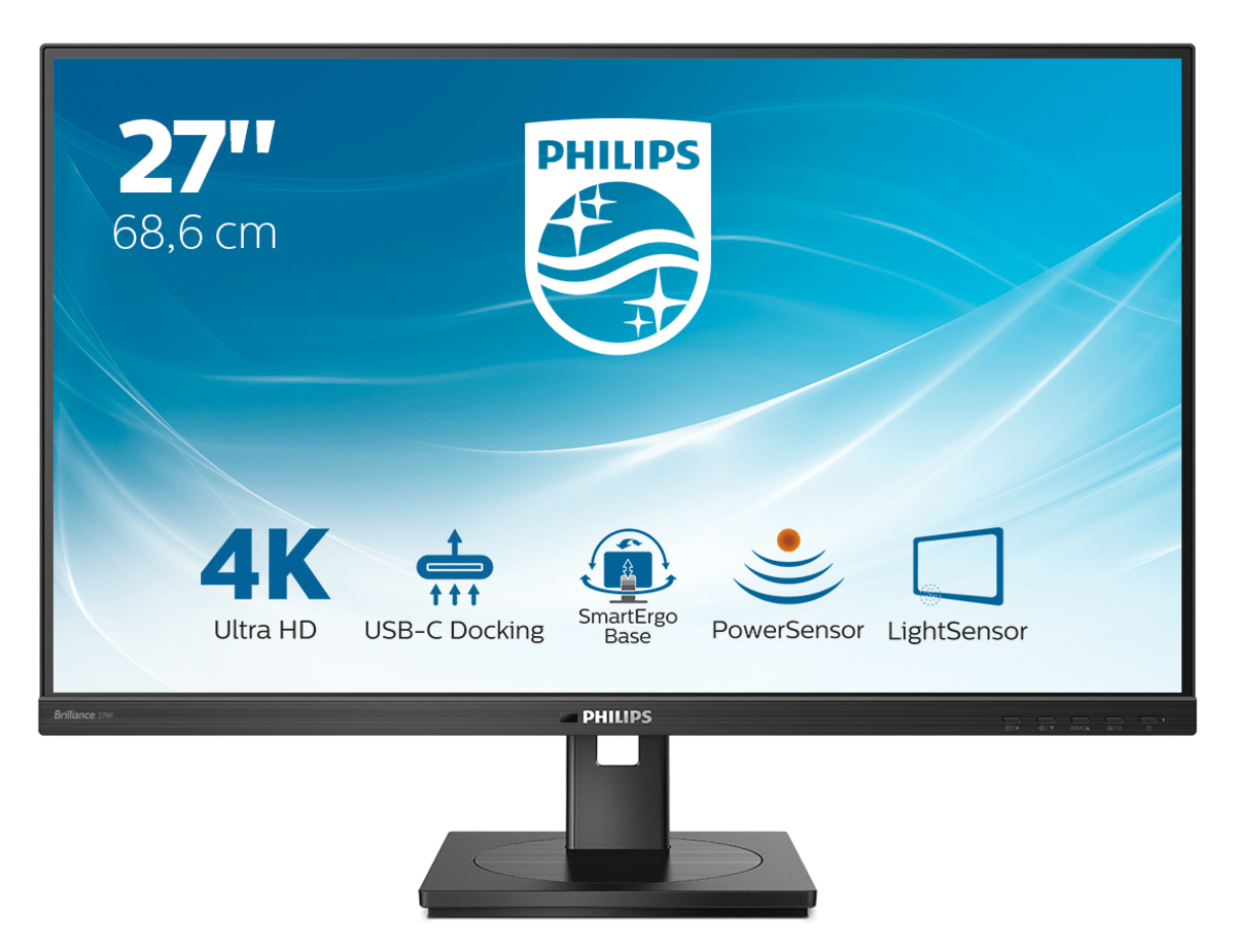 "Philips 27"" 279P1, IPS, DP, HDMI, 4K, HAS, USB-C"