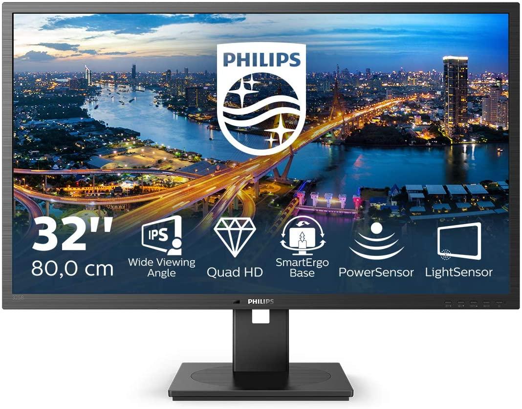 """Philips 31,5"""" 325B1L, IPS, DP, HDMI, QHD, HAS, zvu"""