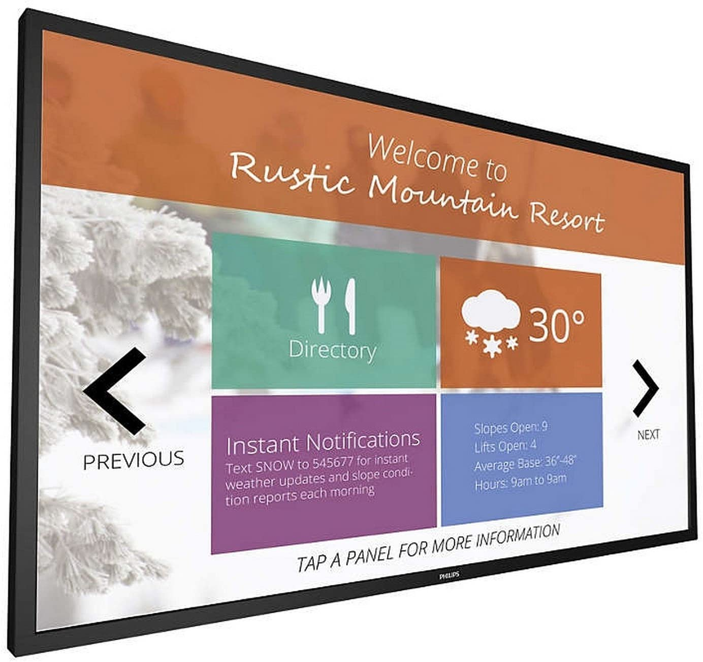 """Philips 43"""" Multi-Touch Display, 43BDL4051T"""