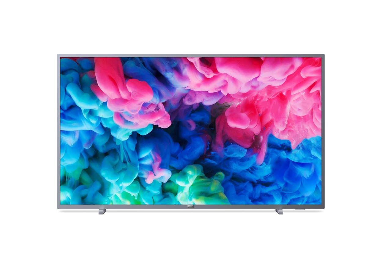 LED TV Philips. 55PUS6523, 4K, Smart, WiFi