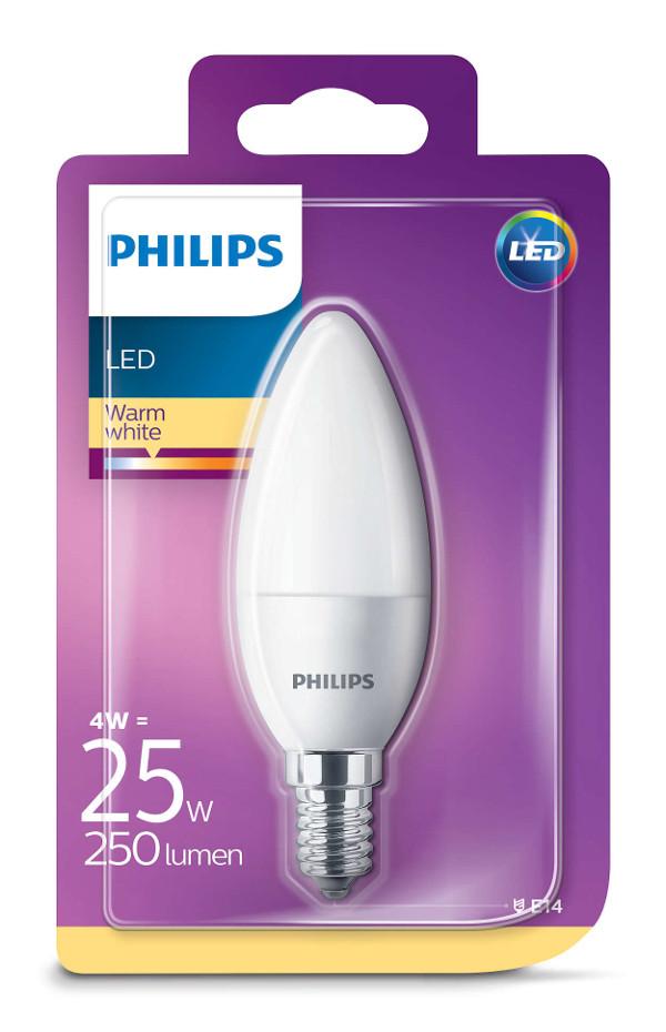 Philips LED žarulja, E14, B35, topla, 4W, matir
