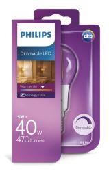 Philips LED žarulja, E14, P45, topla, 5W, gls,dim