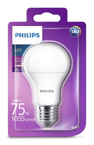 Philips LED žarulja, E27, A60, topla, 11W, mutna