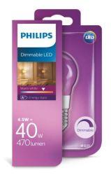 Philips LED žarulja, E27, P45, topla, 4.5W, gl,dim