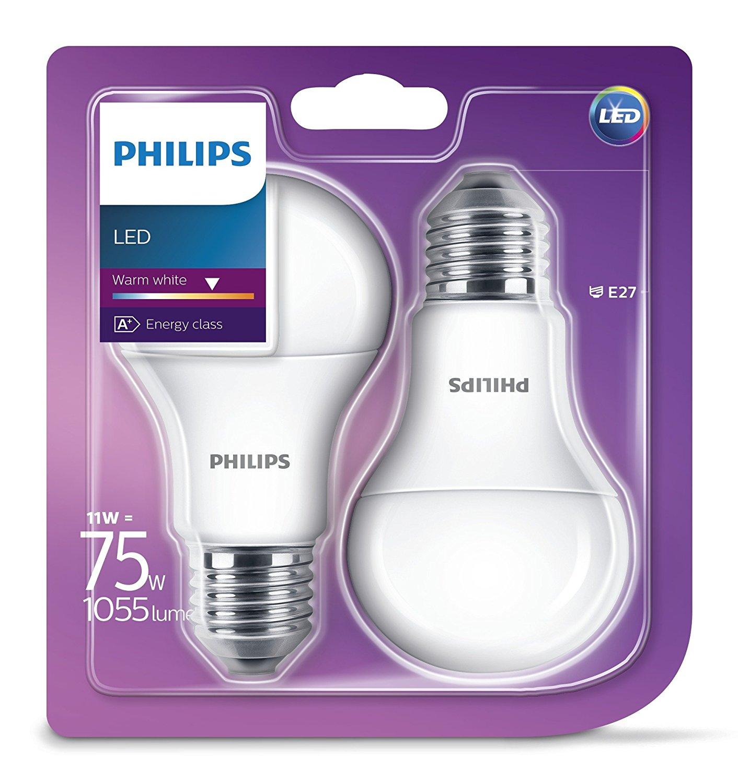 Philips LED žarulja, E27, A60, topla, 11W, mut. 2x