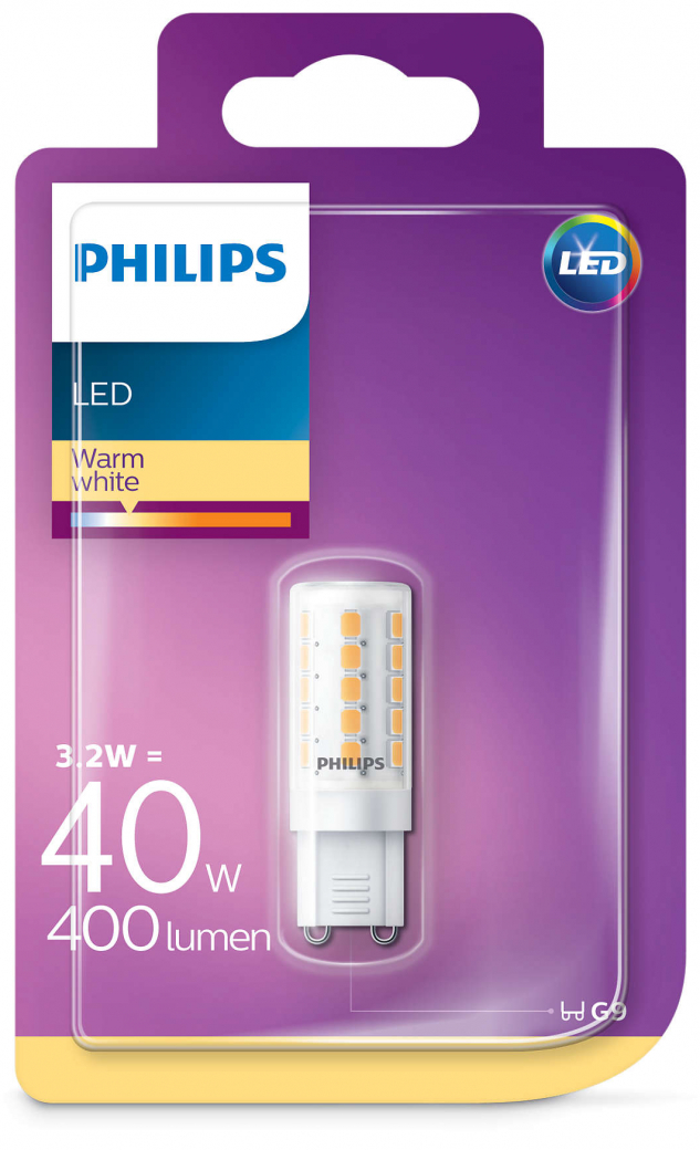 Philips LED žarulja, G9, topla, 2.5W