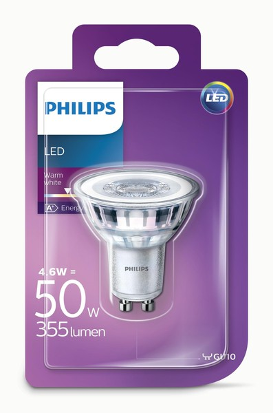 Philips LED žarulja, GU10, topla, 4.6W, 36 st.