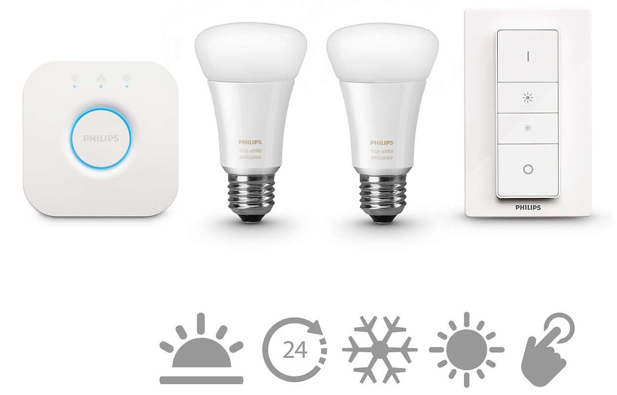 Philips HUE starter kit 2, E27, bijela, switch