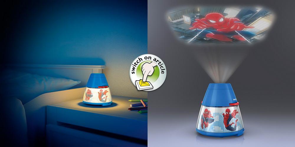 Philips projektor i noćno svjetlo 2u1, Spiderman