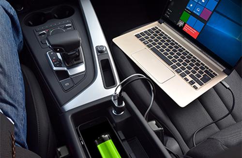 Port auto punjač USB-C i USB A do 57W, crni