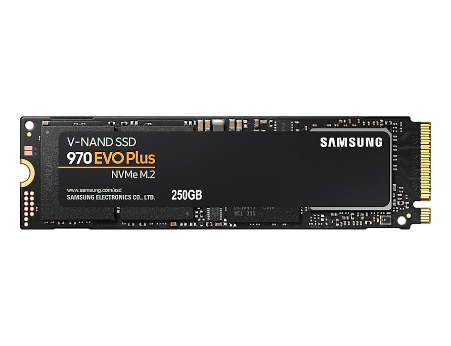 Samsung 970 EVO Plus R3500/W2300 M.2 250Gb NVMe