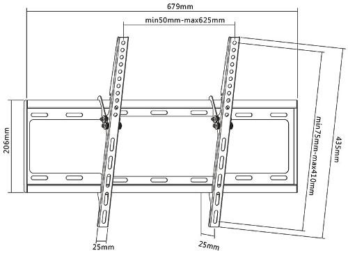 SBOX zidni stalak za TV PLB-3446T