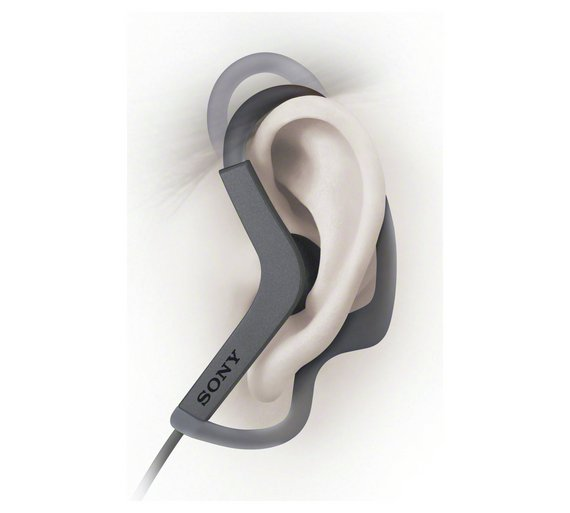 Sony AS210 slušalice crne bez mikrofona
