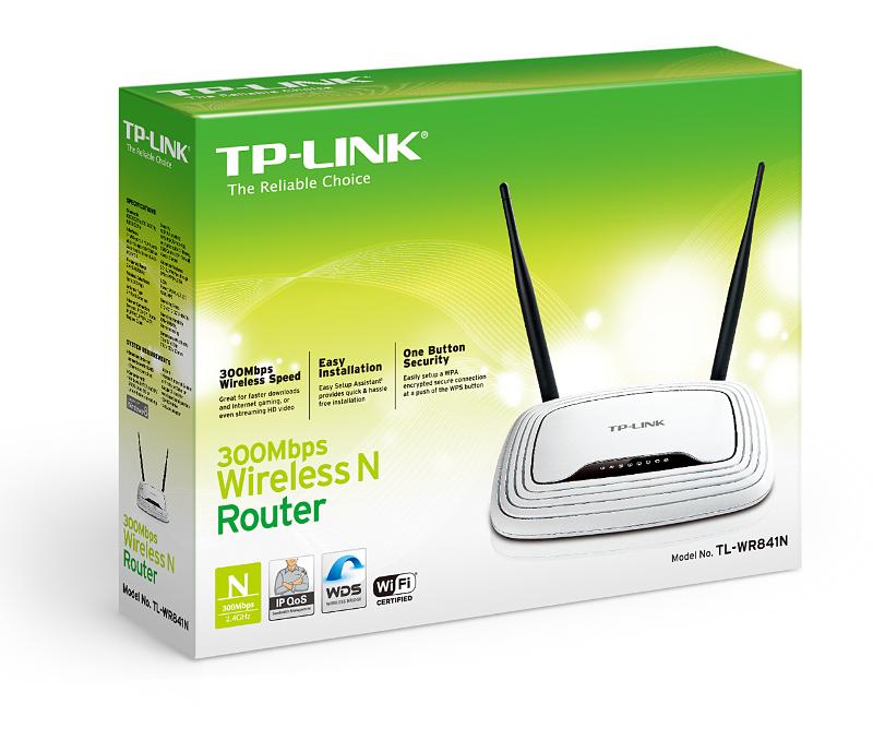 TP-Link TL-WR841ND, WLAN router 300Mbps 4-port