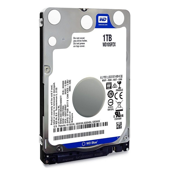 "Western Digital Blue 1TB, 2,5"", 16MB, 5400rpm, 7mm"